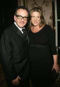 Elvis Costello and Diana Krall at the Elton John AIDS Foundation's Fifth Annual Benefit