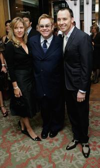 Diana Krall, Sir Elton John and David Furnish at the