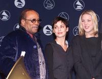 Quincy Jones, Natalie Imbruglia and Diana Krall at the 41st Annual Grammys Awards.