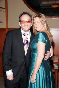 Elvis Costello and Diana Krall at the 2005 Riverkeeper Benefit Dinner.