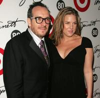 Elvis Costello and Diana Krall at the Tony Bennett's 80th birthday celebration.