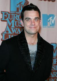 Robbie Williams at the MTV European Music Awards.