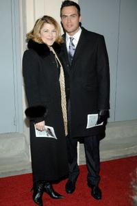 Victoria Clark and Cheyenne Jackson at the opening night of