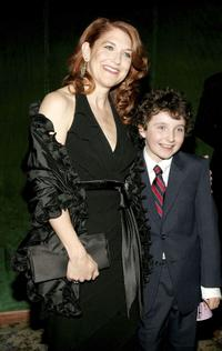 Victoria Clark and Thomas-Luke at the after party of the opening night of