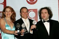 Victoria Clark, Norbert Leo Butz and Dan Fogler at the 59th Annual Tony Awards.