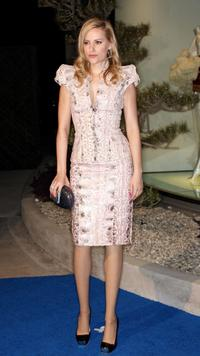 Aimee Mullins at the Launch of Alexander McQueen's Flagship Boutique.