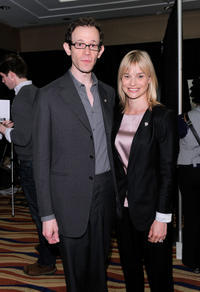 Adam Godley and Hannah Yelland at the 65th Annual Tony Awards in New York.