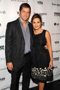 Peter Hermann and Mariska Hargitay at the Mariska Hargitay's Joyful Heart Foundation dinner.