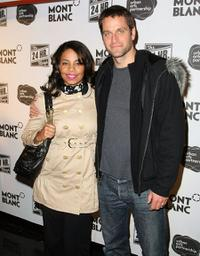 Sanaa Lathan and Peter Hermann at the Montblanc Presents the 8th Annual 24 Hour Plays on Broadway.
