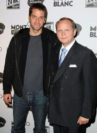 Peter Hermann and Jan-Patrick Schmitz at the Montblanc Presents the 8th Annual 24 Hour Plays on Broadway.