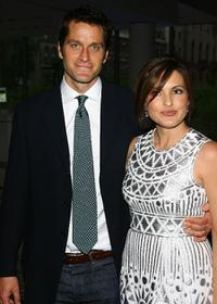 Peter Hermann and Mariska Hargitay at the celebration of network television.