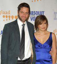Peter Hermann and Mariska Hargitay at the 19th Annual GLAAD Media Awards.