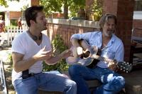 Director Scott Cooper and Jeff Bridges on the set of