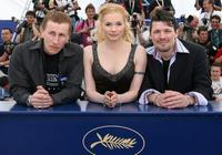 Ilkka Koivula, Maria Jarvenhelmi and Janne Hyytiainen at the photocall of
