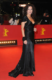 Clara Khoury at the premiere of