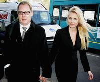 Vic Reeves and Nancy Sorrell at the Maidstone Magistrates Court in Kent, England.