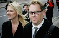 Nancy Sorrell and Vic Reeves at the Maidstone Magistrates Court in Kent, England.