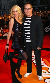 Nancy Sorrell and Vic Reeves at the Brit Awards 2008.