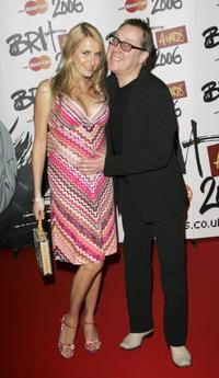 Nancy Sorrell and Vic Reeves at the Brit Awards 2006.