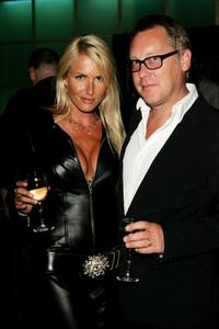 Nancy Sorrell and Vic Reeves at the after party of the premiere of