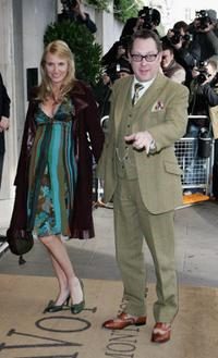 Nancy Sorrell and Vic Reeves at the South Bank Show Awards.