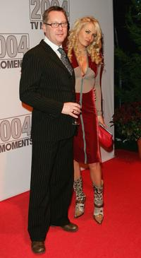 Vic Reeves and Nancy Sorrell at the 2004 TV Moments Awards Ceremony.