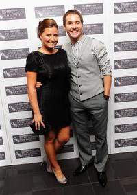 Martin Compston and Guest at the premiere of