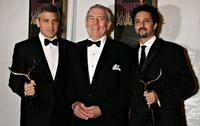 George Clooney, Dan Rather and Grant Heslov at the 2006 Writers Guild Awards.