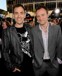 Director Vincenzo Natali and David Hewlett at the California premiere of