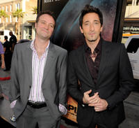 David Hewlett and Adrien Brody at the California premiere of