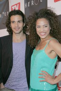 Santiago Cabrera and Tawny Cypress at the celebration for the wrap of season one of