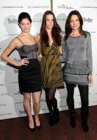 Caroline Pires, Chrissy Haldis and Daniella Van Graas at the screening of