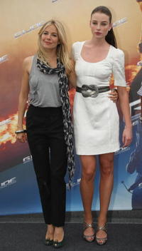 Sienna Miller and Rachel Nichols at the photocall of