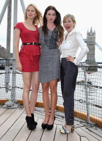 Sienna Miller, Rachel Nichols and Karolina Kurkova at the photocall of
