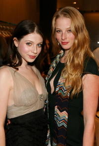 Michelle Trachtenberg and Rachel Nichols at the Monique Lhuillier Salon opening.
