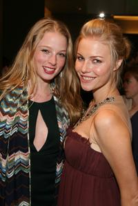 Rachel Nichols and Melissa Sagemiller at the opening of Monique Lhuillier Salon.