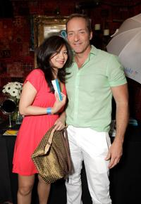 Liza Lapira and Guest at the Melanie Segal's Celebrity S.O.S (Save Our Seas) Lounge.