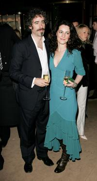 Stephen Mangan and his guest at the after show party of the UK premiere of