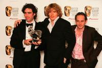 Stephen Mangan, Julian Rhind-Tutt and Karl Theobald at the Pioneer British Academy Television Awards.