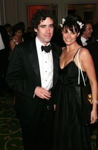 Sarah Parish and Stephen Mangan at the Pioneer British Academy Television Awards.