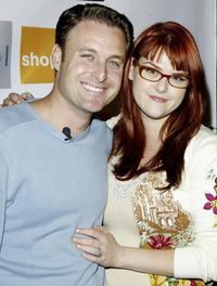 Chris Harrison and Sara Rue at the Season Launch party.