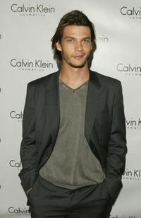 Trent Ford at the launch Party of Calvin Klein's new fragrance Eternity Moment.