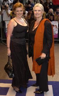 Finty Williams and Judi Dench at the London premiere of