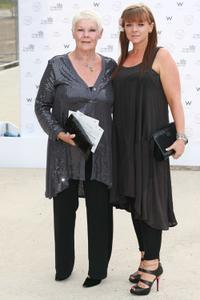 Judi Dench and Finty Williams at the summer fundraising party for the Old Vic Theatre.