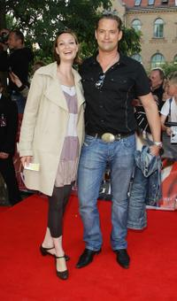 Sandya Mierswa and Christian Kahrmann at the German premiere of