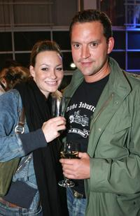 Sandya Mierswa and Christian Kahrmann at the after party of the opening of Adidas Performance Store.