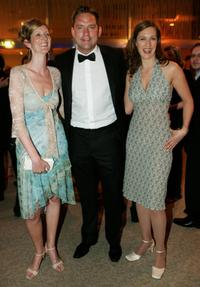Katja Proxauf, Christian Kahrmann and Yutah Lorenz at the after party of the German Film Awards.