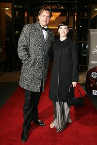 Christian Kahrmann and Sandya Mierswa at the Berlin Filmball during the 58th Berlinale Film Festival.