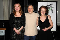 Kristine Nielsen, David Aaron Baker and Audrie Neenan at the Off-Broadway opening night of