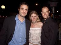 Dominic Fumusa, Alison West and Josh Stamberg at the after party of